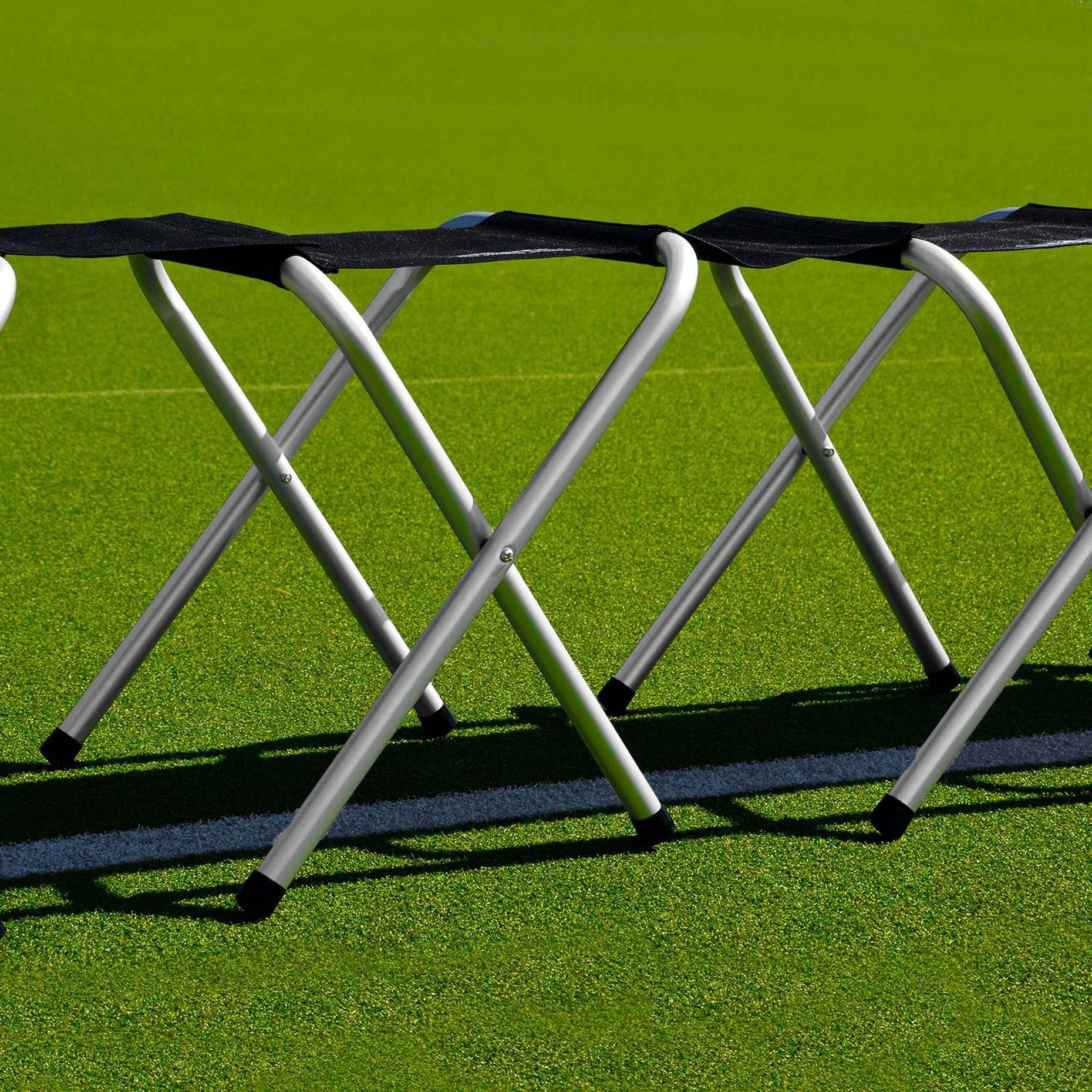 Portable Aluminum Soccer Team Bench Net World Sports